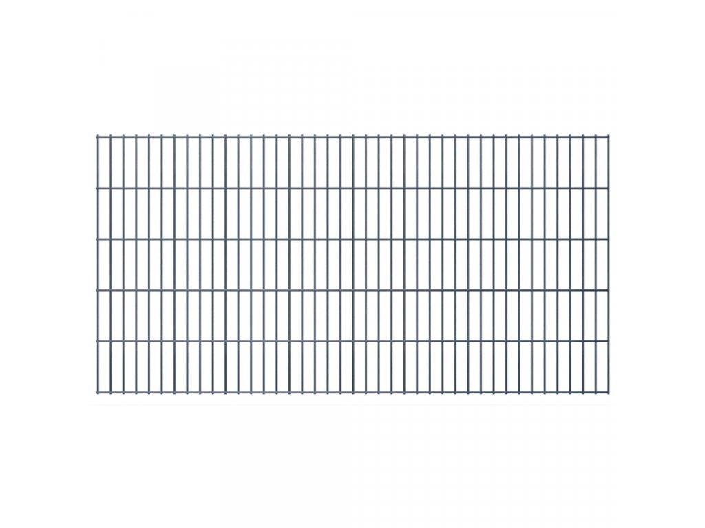 2D zahradní plotový dílec 2,008 x 1,03 m šedý