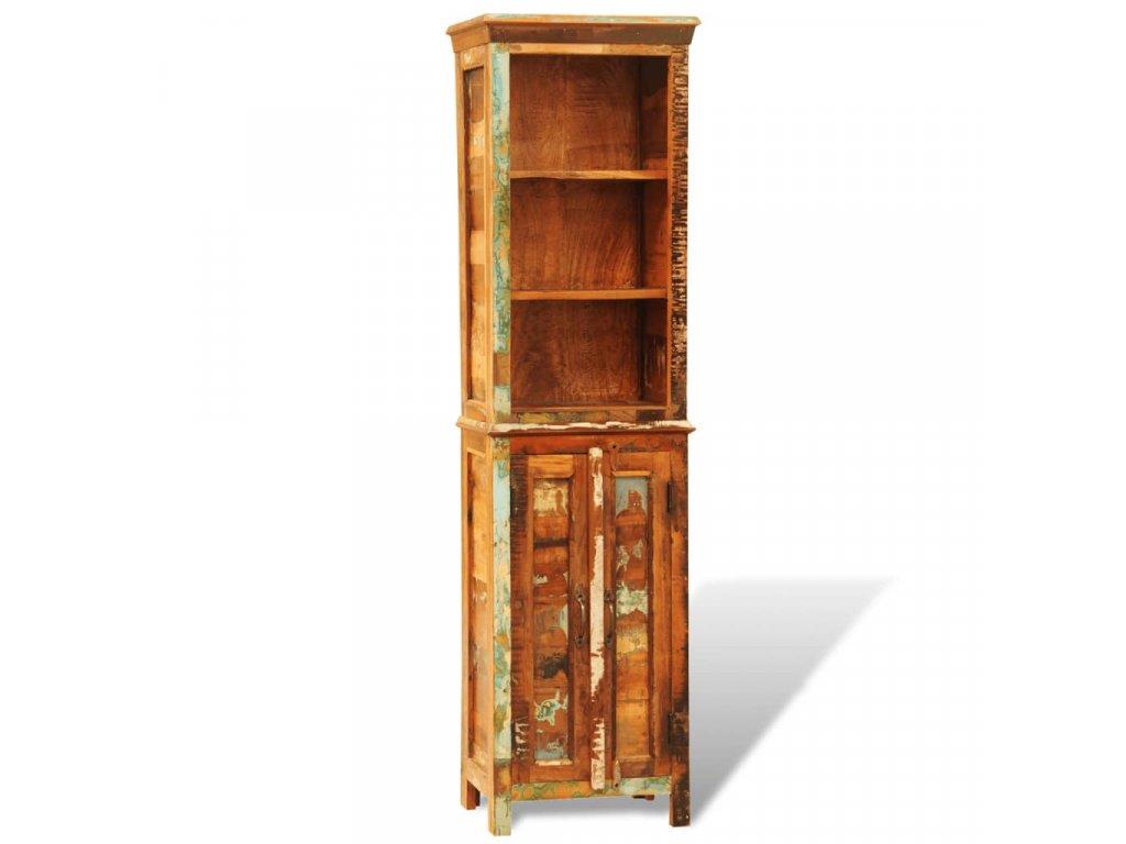 Knihovna recyklované masivní dřevo vintage