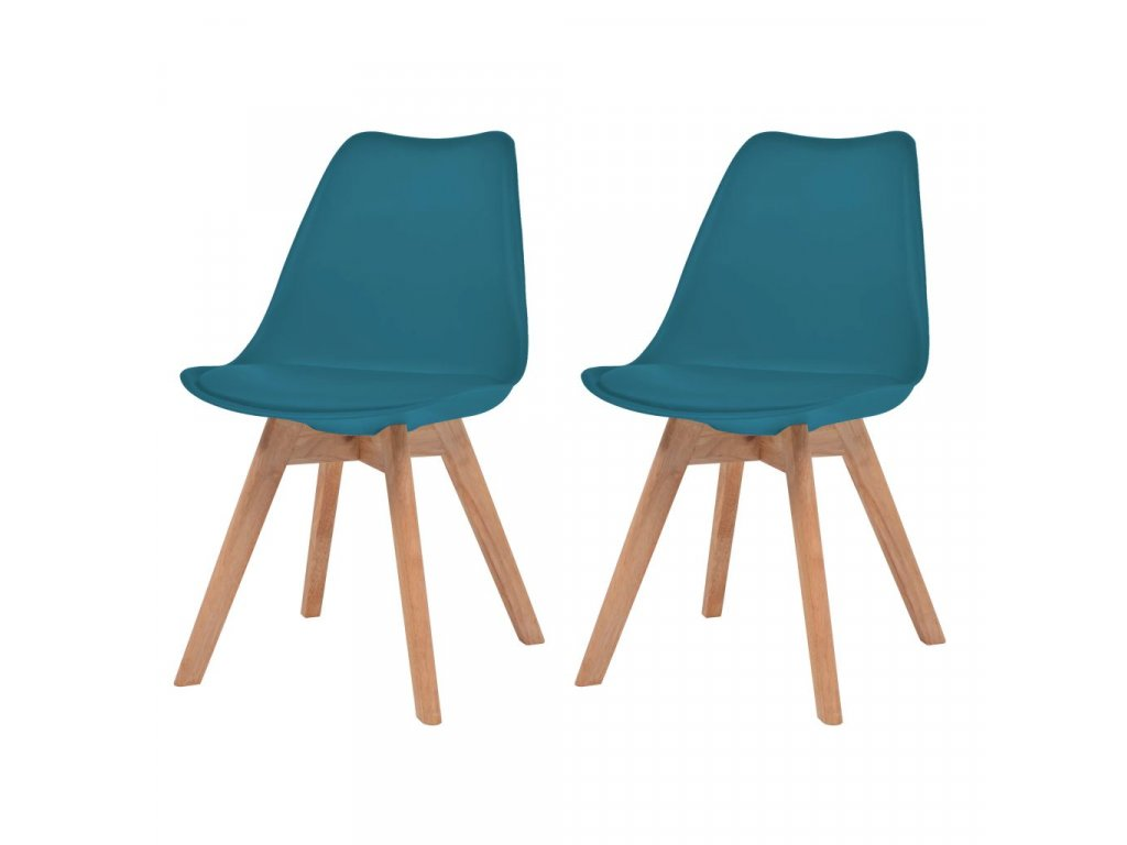 Jídelní židle 2 ks tyrkysové umělá kůže