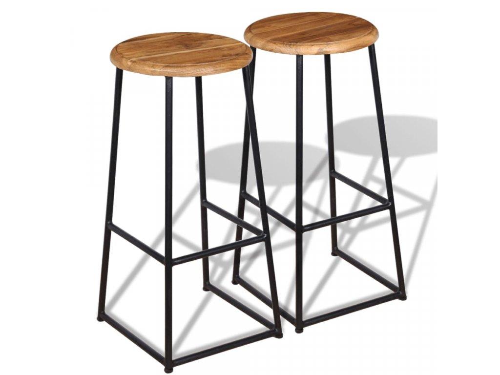 Barová stolička 2 ks masivní teak