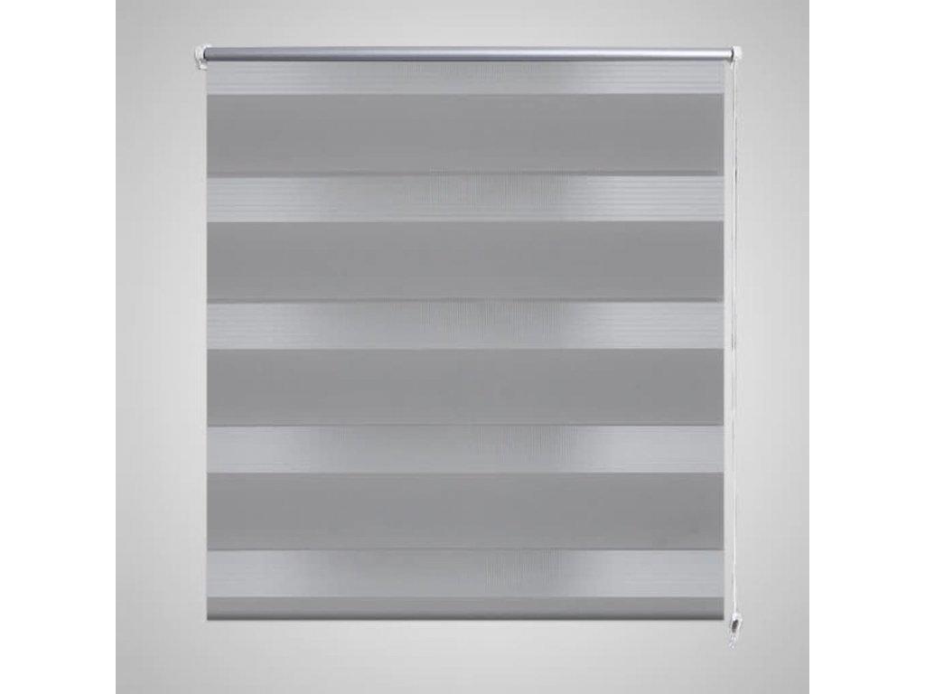 Roleta den a noc / Zebra / Twinroll 80x150 cm šedá
