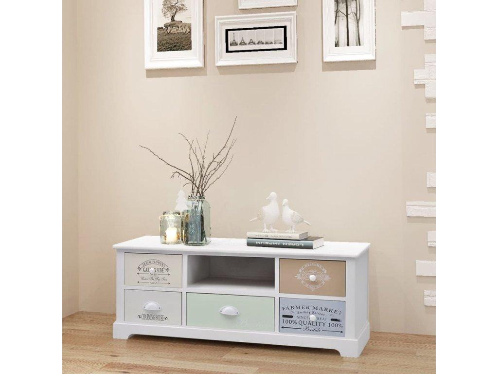 TV stolek ve francouzském stylu dřevěný