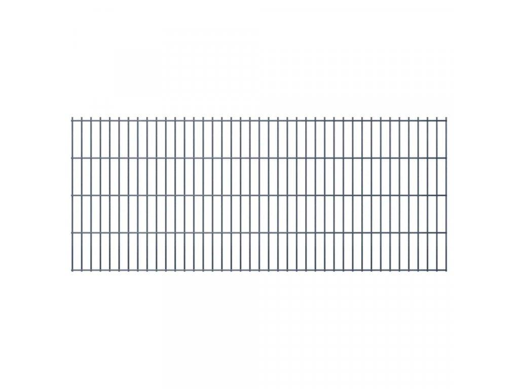 2D Zahradní plotové dílce 2,008x0,83 m 32m (celková délka) šedé