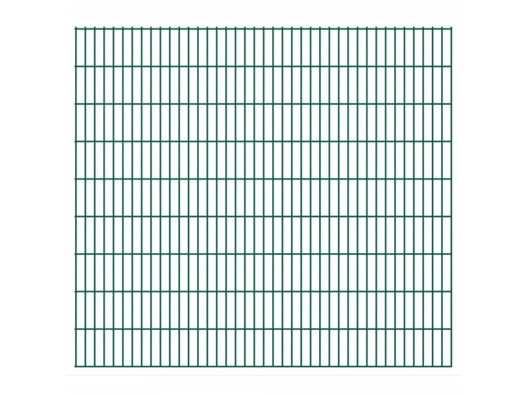 2D zahradní plotové dílce 2008x1830 mm, 10 m, zelené