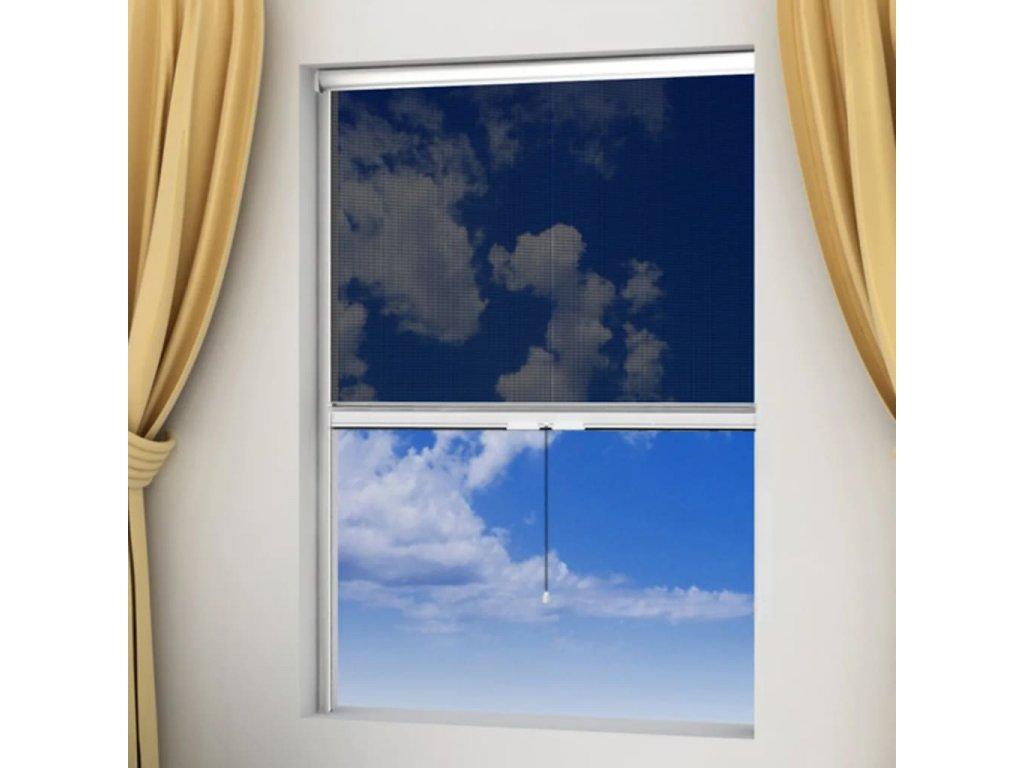 Bílá rolovací síť proti hmyzu na okna 100x170 cm