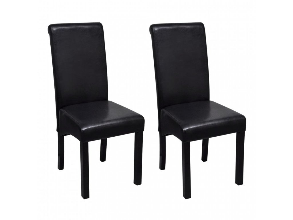 Jídelní židle 2 ks černé umělá kůže