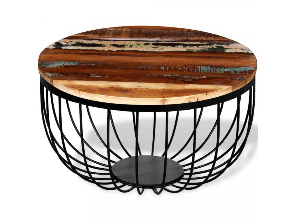 Konferenční stolek masivní recyklované dřevo