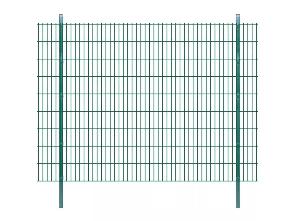 2D zahradní plotové dílce a sloupky 2008x1830 mm 32 m zelené