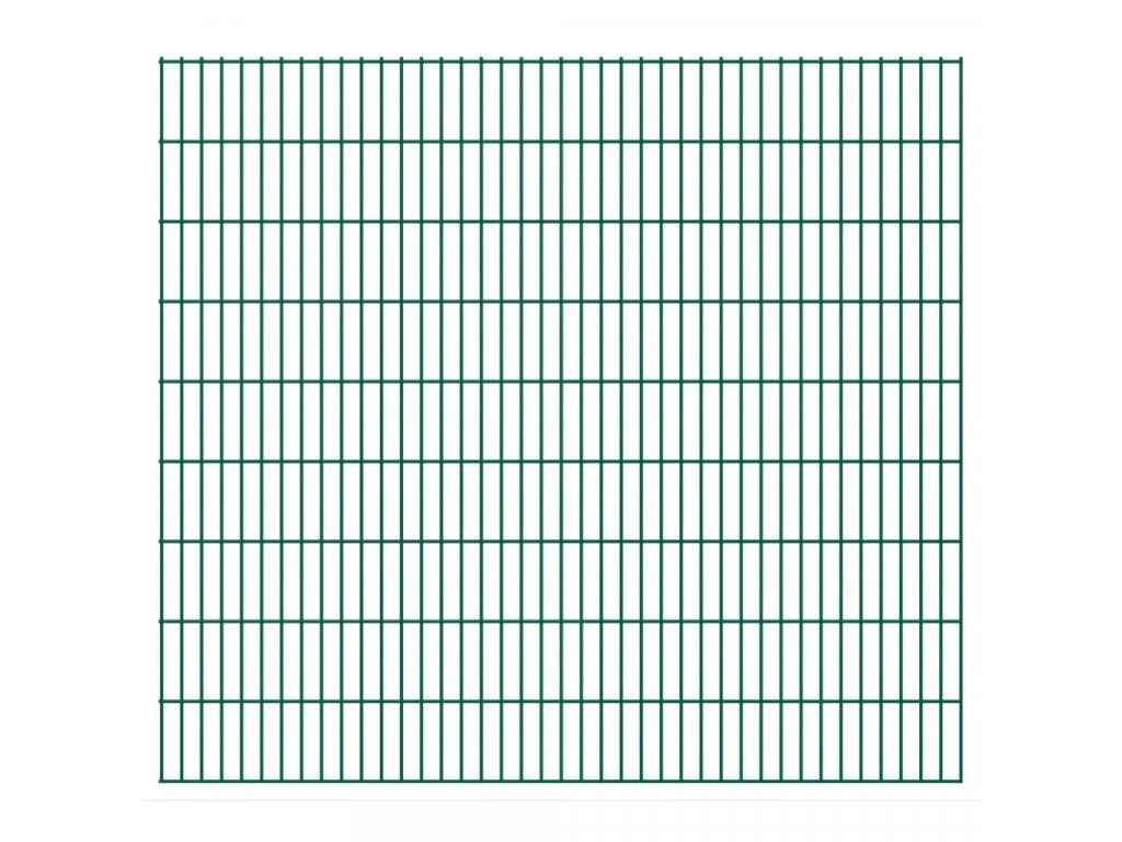 2D Zahradní plotové dílce 2,008 x 1,83 m 14 m (celková délka)