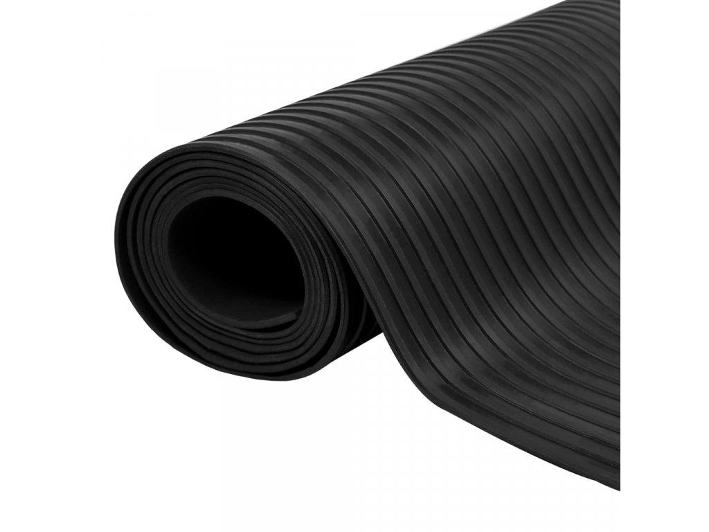 Gumová podlahová protiskluzová rohož 5 x 1 m široké vroubky