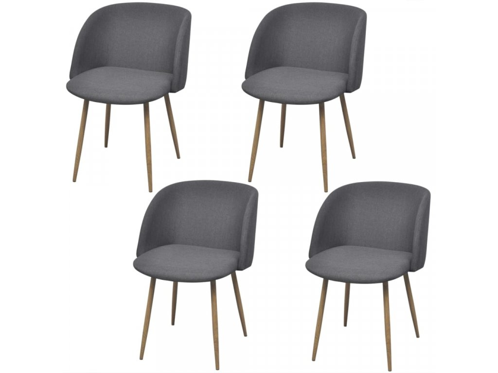Jídelní židle 4 ks tmavě šedé