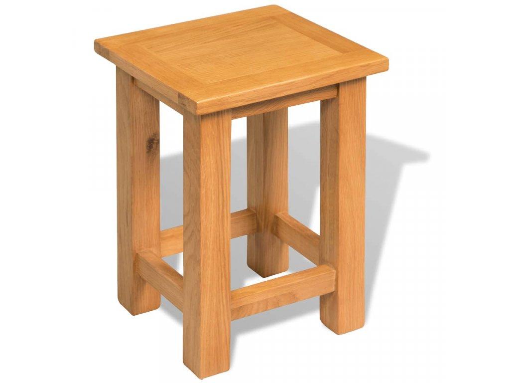 Odkládací stolek 27 x 24 x 37 cm masivní dubové dřevo