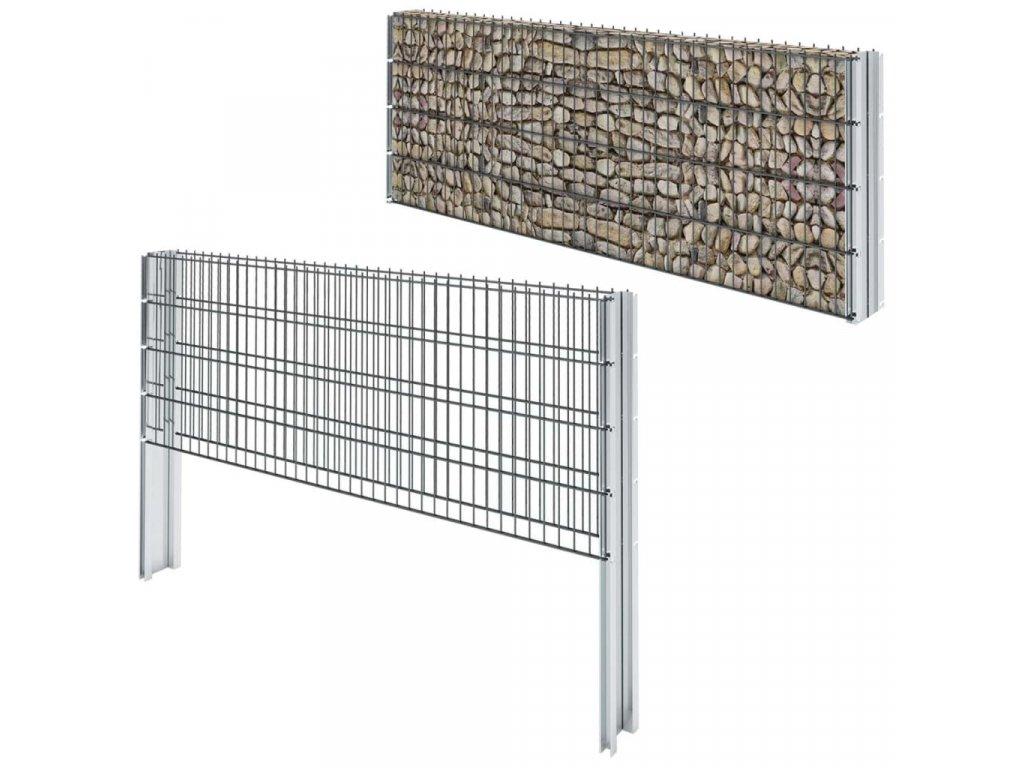 2D gabion plot pozinkovaná ocel 2,008x0,83m 20m (celková délka)