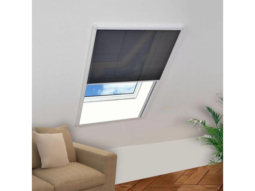 Plisovaná okenní síť proti hmyzu 80 x 160 cm