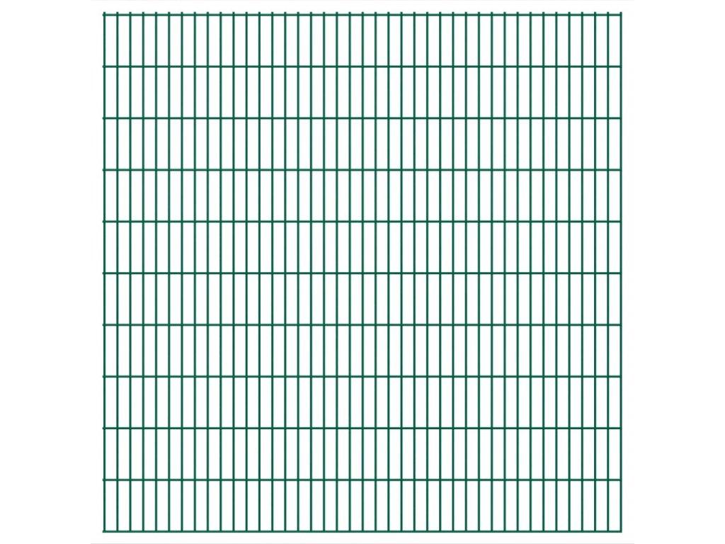 2D zahradní plotový dílec 2,008 x 2,03 mm zelený