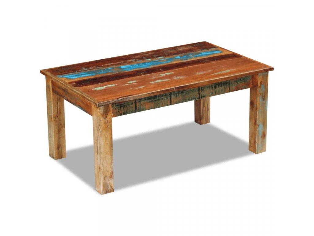 Konferenční stolek masivní recyklované dřevo 100 x 60 x 45 cm
