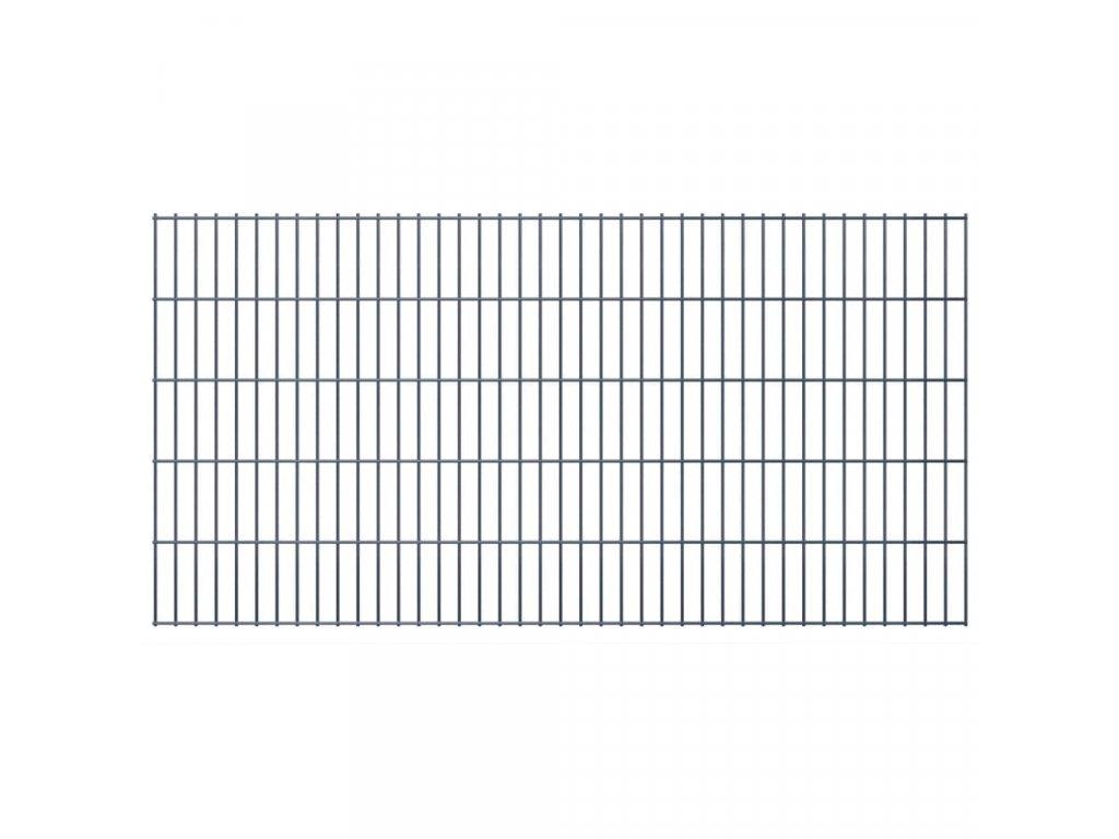 2D zahradní plotové dílce 2,008x1,03 m 10m (celková délka) šedé