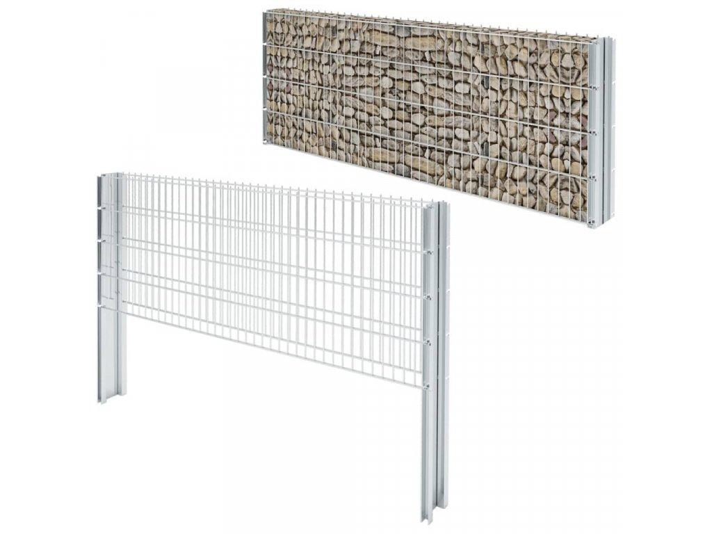 2D gabion plot pozinkovaná ocel 2,008x0,83m 14m (celková délka)