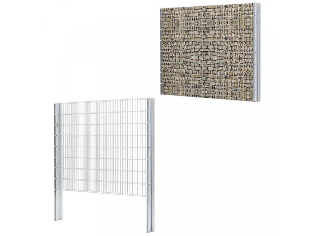 2D gabion plot pozinkovaná ocel 2,008x1,63m 4 m (celková délka)