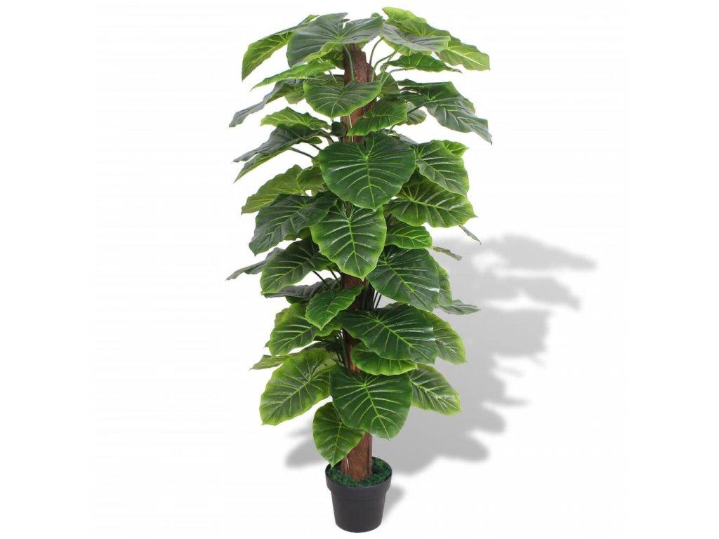 Umělá rostlina kolokázie s květináčem 145 cm zelená