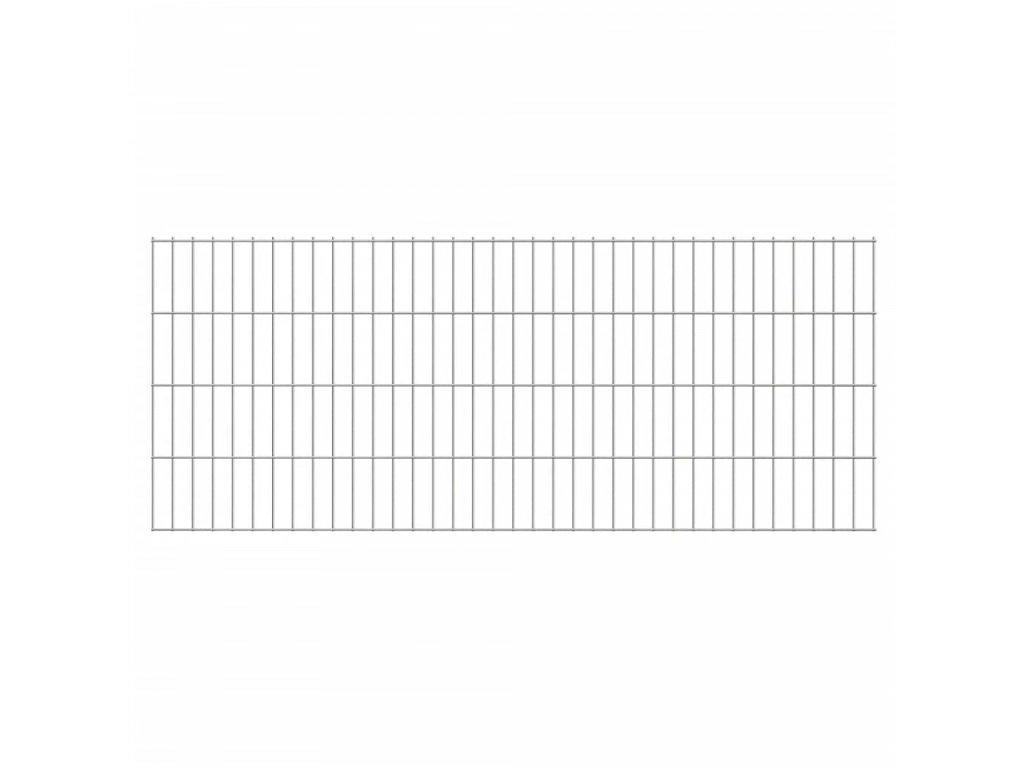 2D zahradní plotové dílce 2,008 x 0,83 m 14 m (celková délka)