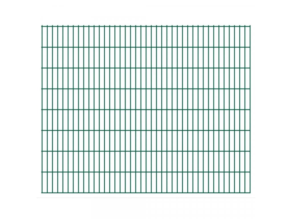 2D Zahradní plotové dílce 2,008 x 1,63 m 34 m (celková délka)
