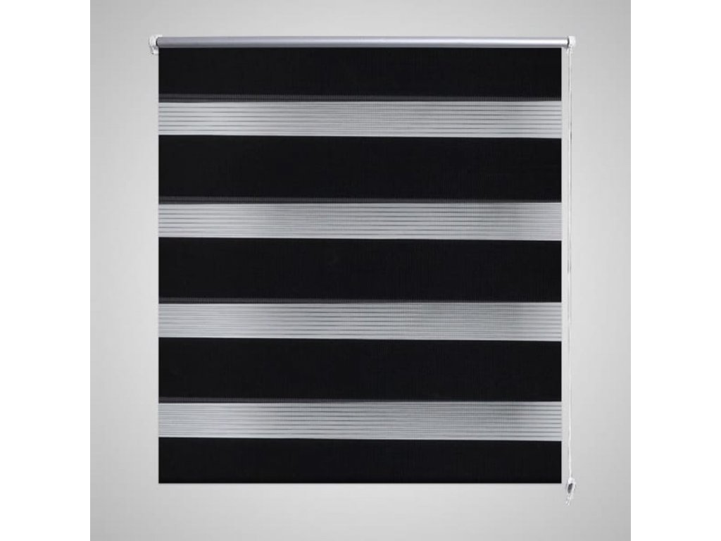 Roleta den a noc / Zebra / Twinroll 120x175 cm černá