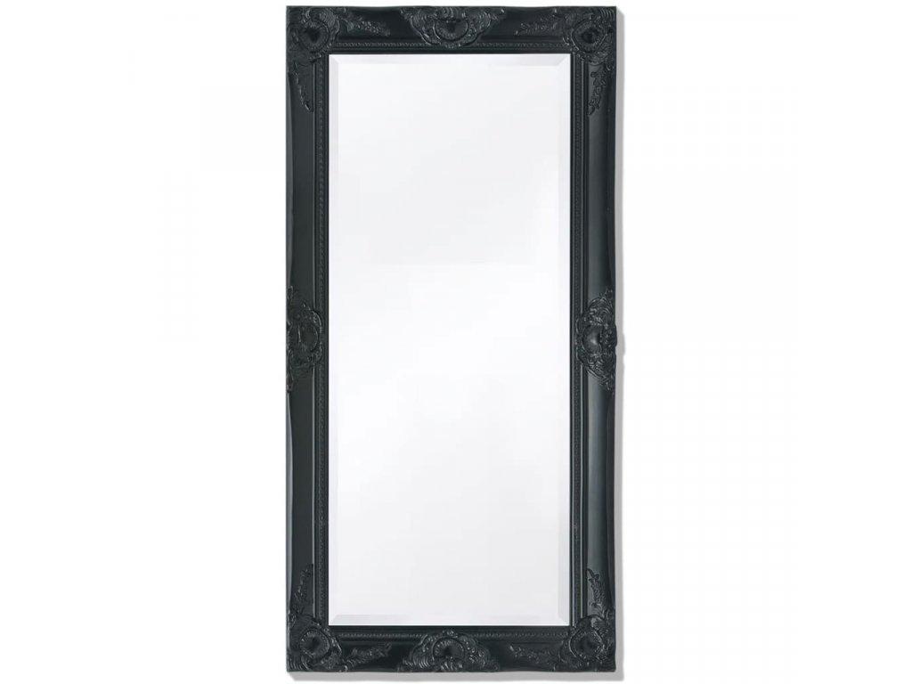 Nástěnné zrcadlo barokní styl 100x50 cm černé