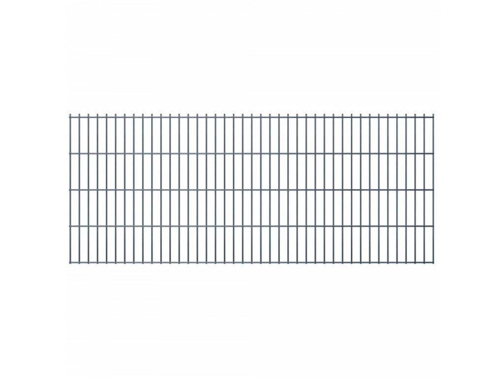 2D Zahradní plotové dílce 2,008x0,83 m 16m (celková délka) šedé