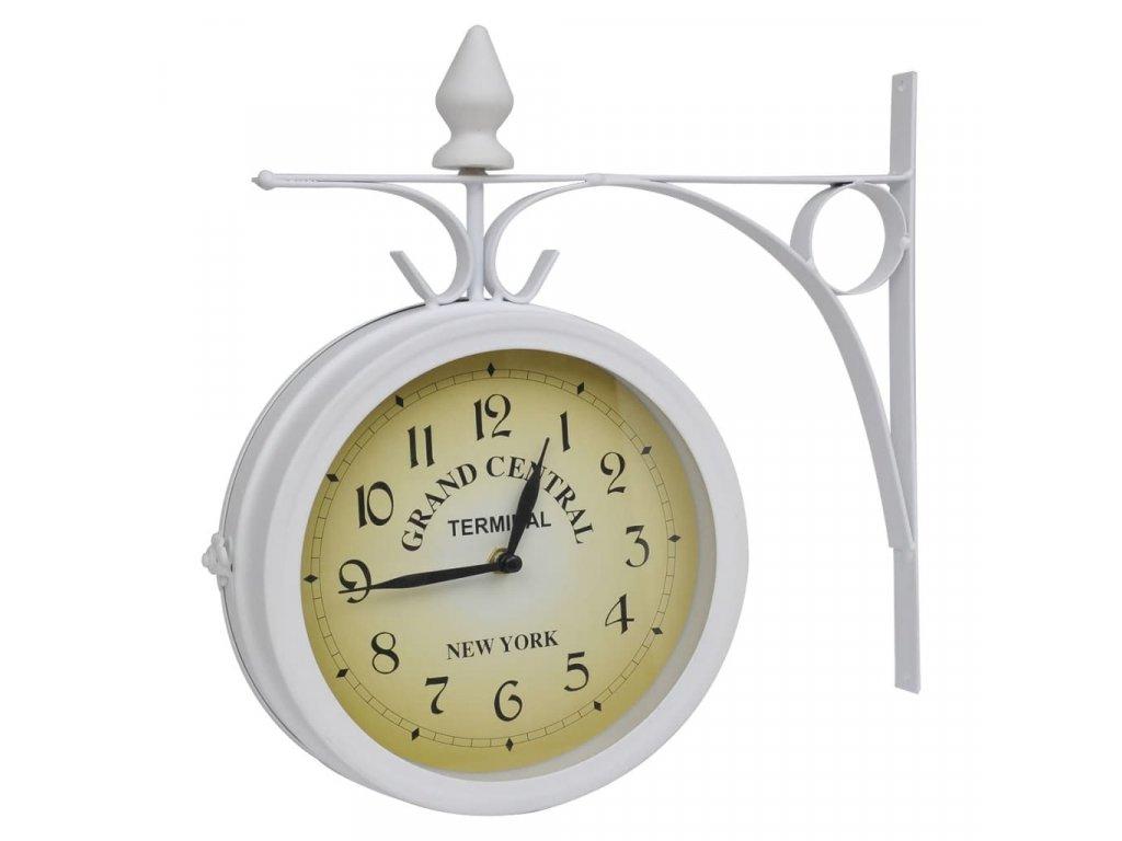 Oboustranné nástěnné hodiny klasický design