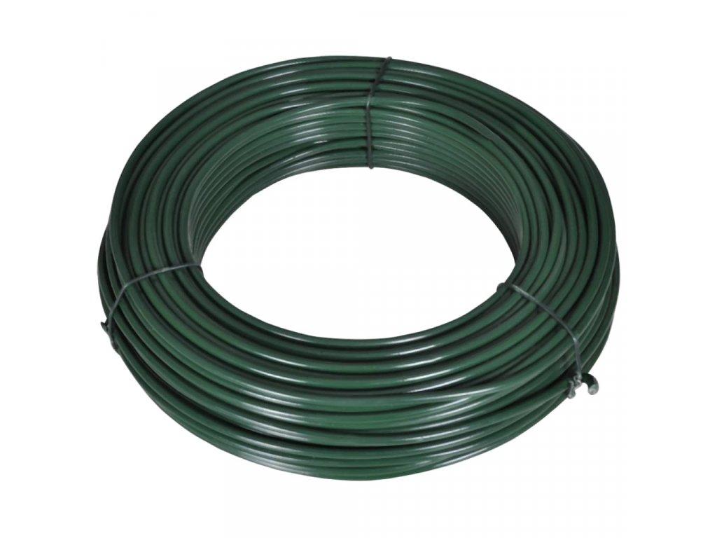 Plotový vyvazovací drát 80 m 2,1/3,1 mm ocelový zelený