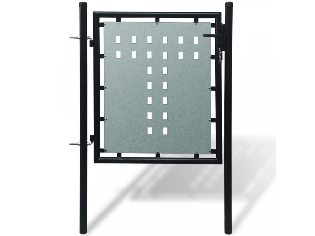 Černá jednokřídlá plotová branka 100 x 150 cm
