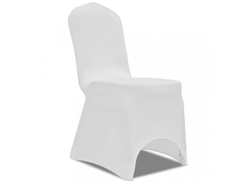 50 ks bílé strečové potahy na židle