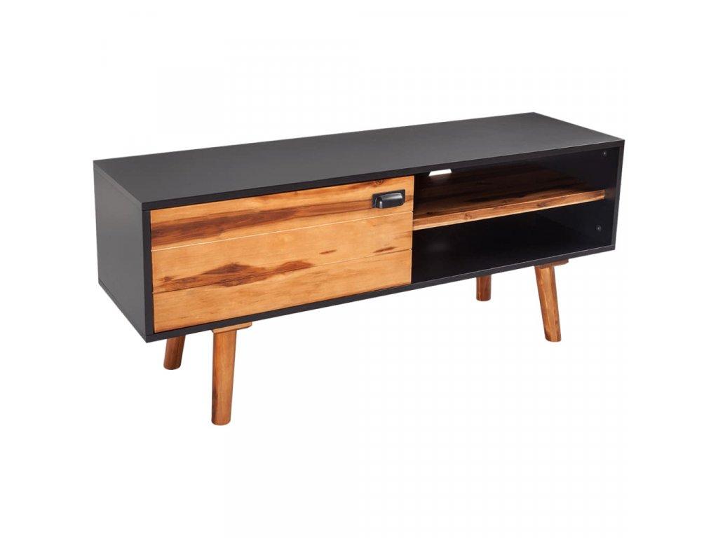 TV stolek z masivního akáciového dřeva 120x35x50 cm