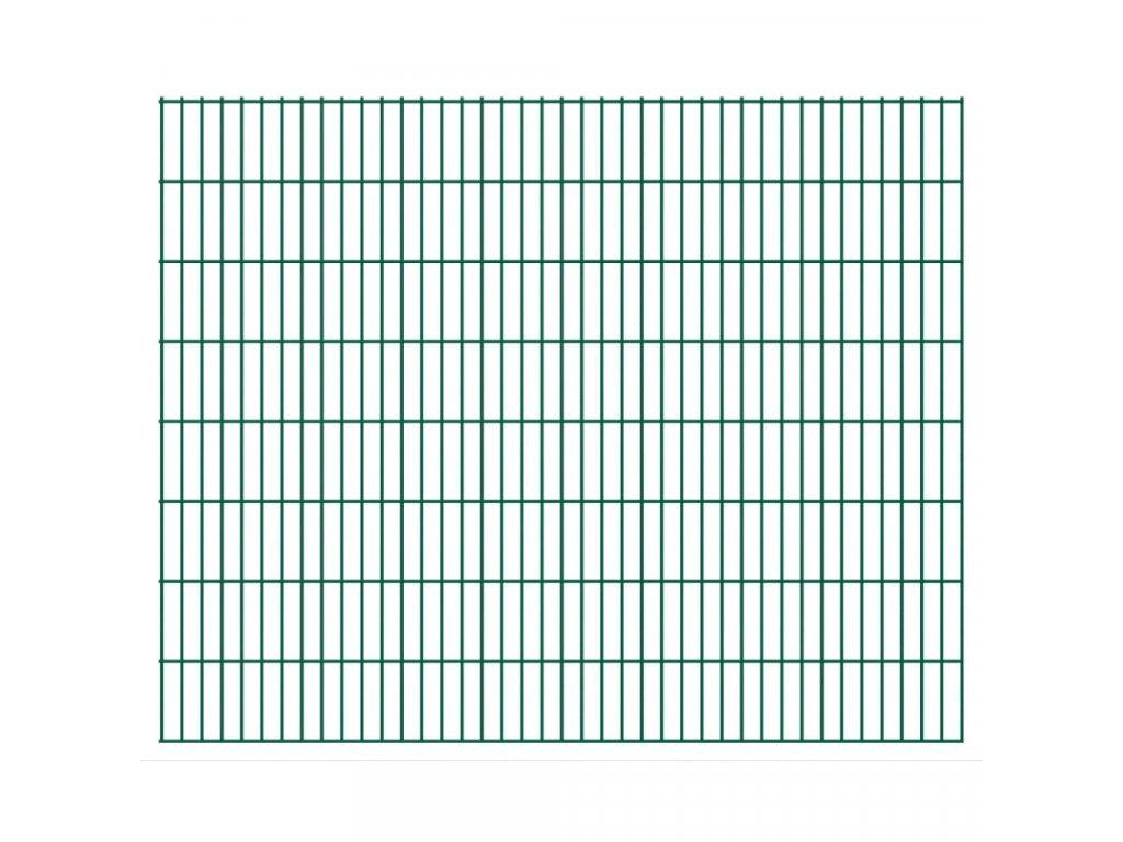2D zahradní plotový dílec 2,008 x 1,63 m zelený