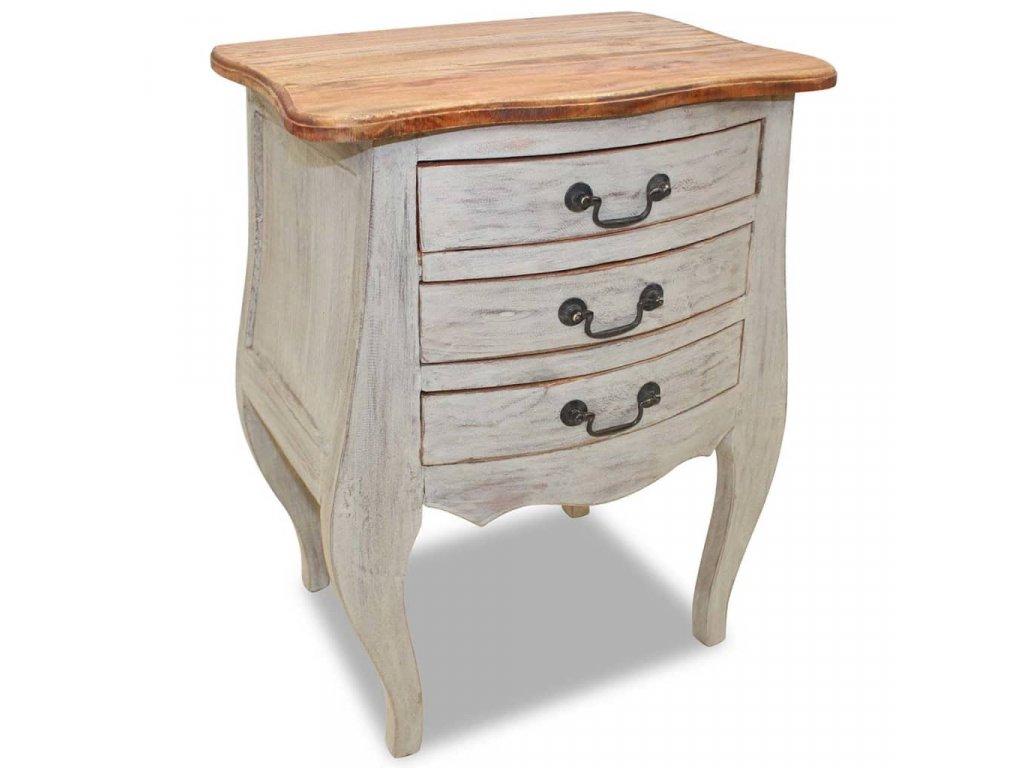 Noční stolek masivní recyklované dřevo 48 x 35 x 64 cm