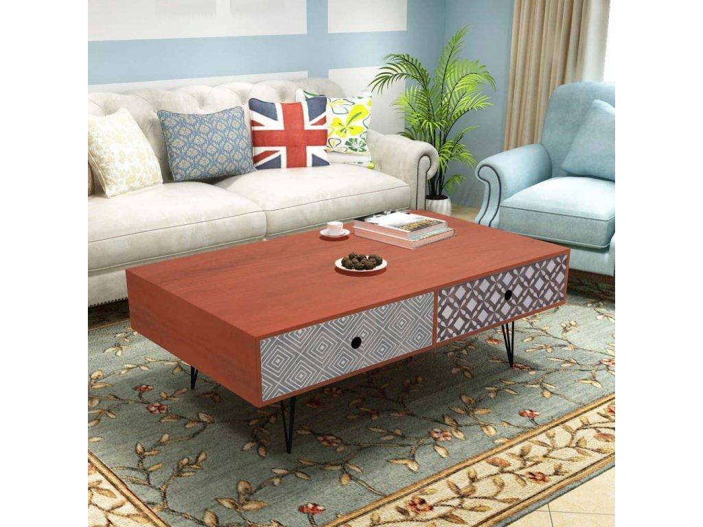 Konferenční stolek 100x60x35 cm hnědý