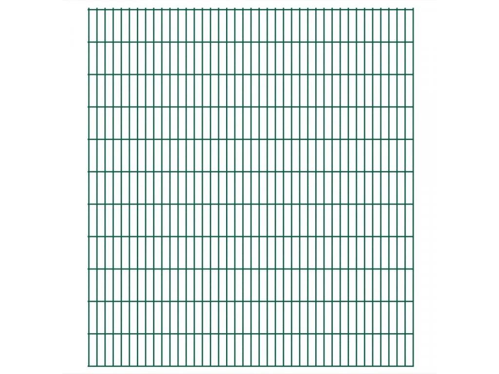 2D zahradní plotové dílce 2,008 x 2,23 m 4 m (celková délka)