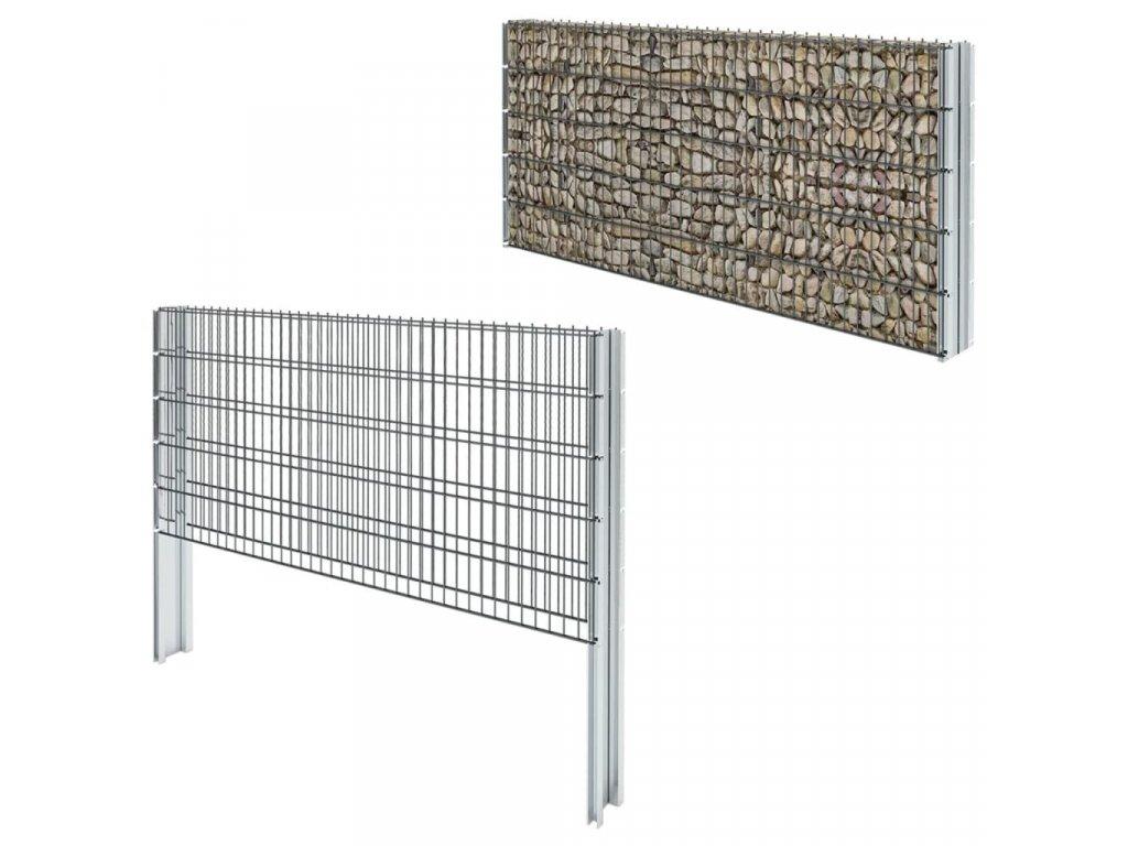 2D gabion plot pozinkovaná ocel 2,008x1,03 m 4m (celková délka)
