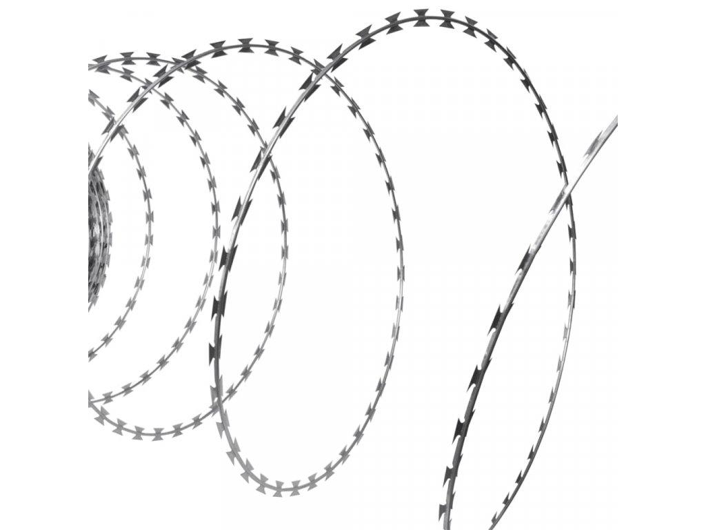 NATO žiletkový drát BTO-22 Concertina, pozinkovaná ocel, 150 m