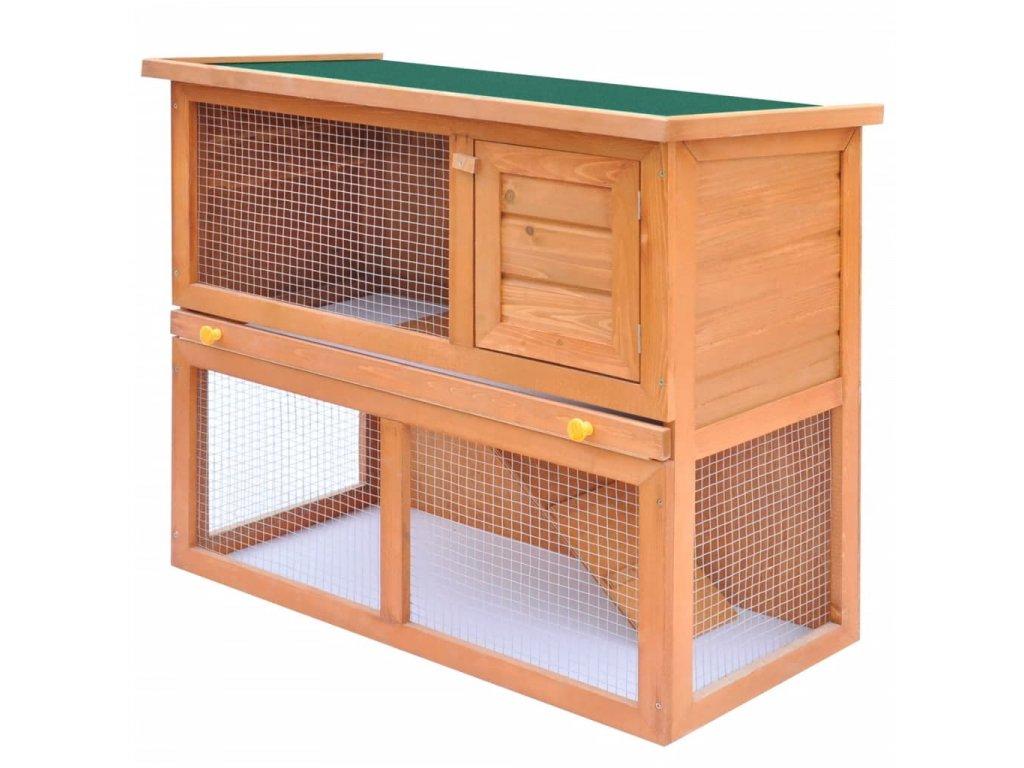 Zahradní králikárna/domek pro drobná zvířata 1 dvířka dřevěná