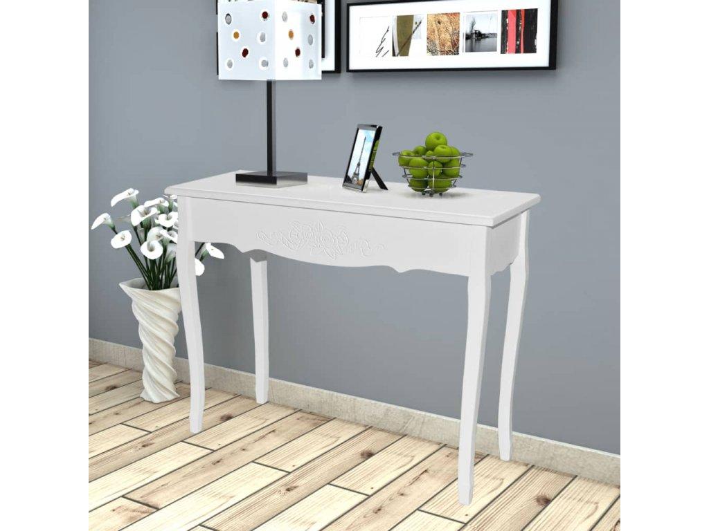 Toaletní konzolový stolek bílý