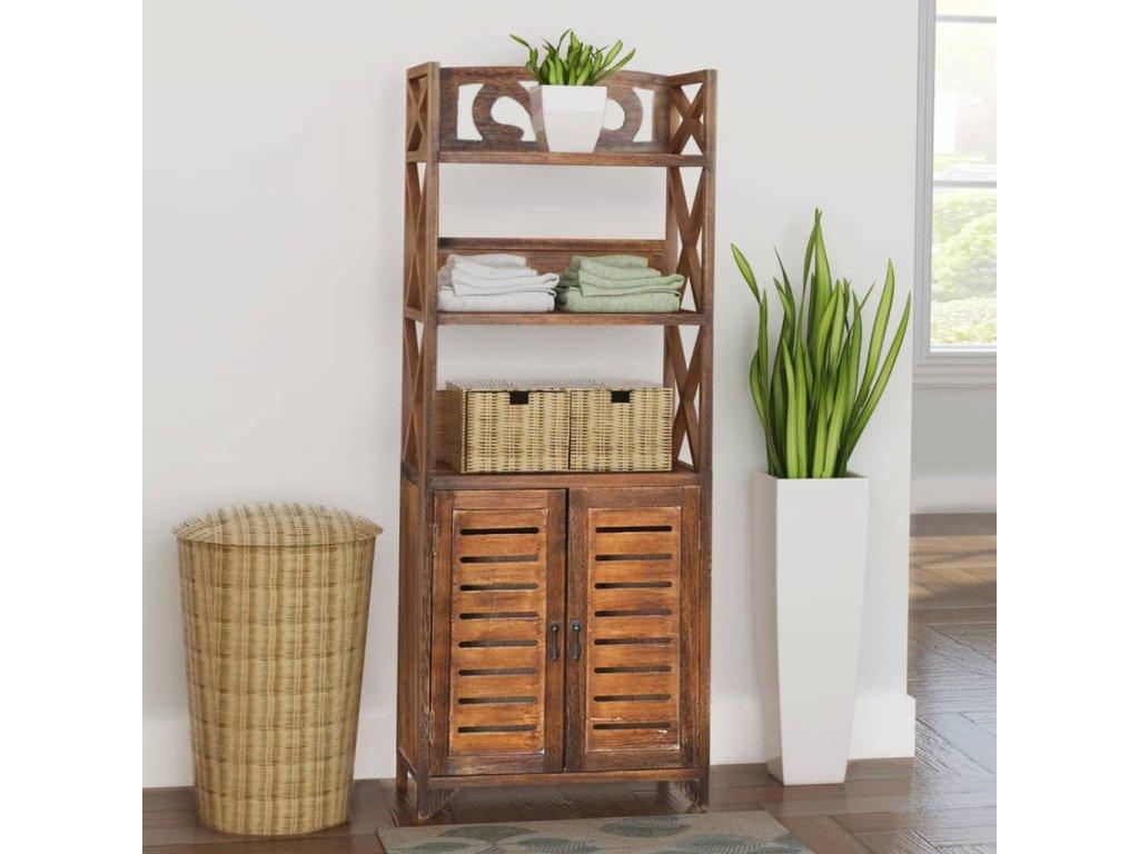 Koupelnová skříň ''Albuquerque'' dřevo hnědá 46x24x117,5 cm