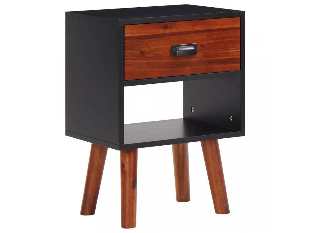 Noční stolek z masivního akáciového dřeva 40x30x58 cm