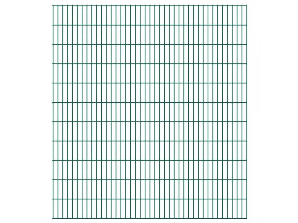 2D zahradní plotové dílce 2,008 x 2,23 m 12 m (celková délka)