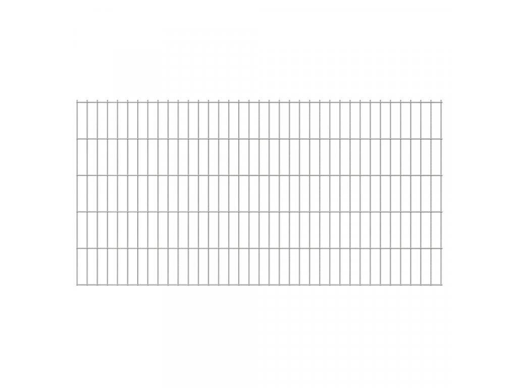 2D zahradní plotový dílec 2,008 x 1,03 m stříbrný