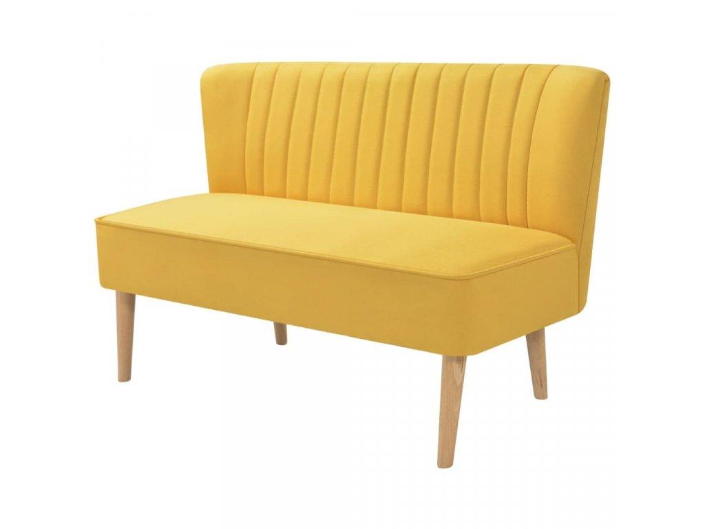 Pohovka textil 117 x 55,5 x 77 cm žlutá