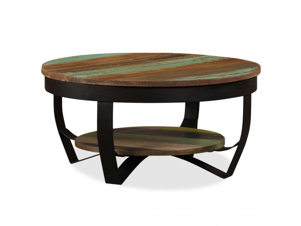 Konferenční stolek masivní recyklované dřevo 65 x 32 cm