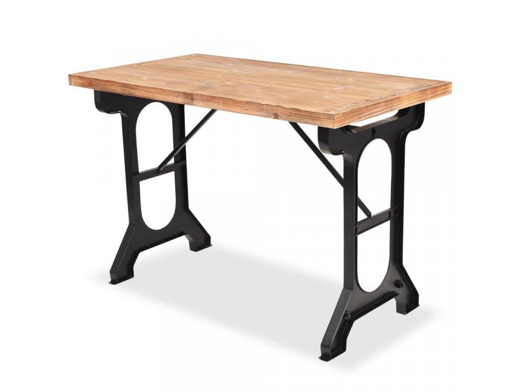 Jídelní stůl, masivní jedlové dřevo, 122 x 65 x 82 cm