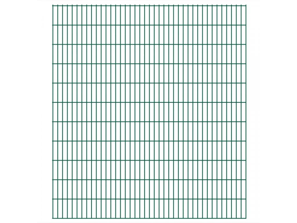 2D zahradní plotové dílce 2,008 x 2,23 m 16 m (celková délka)